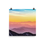 Mountain Colors Photo paper poster