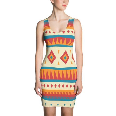 Native Pattern Sublimation Cut & Sew Dress