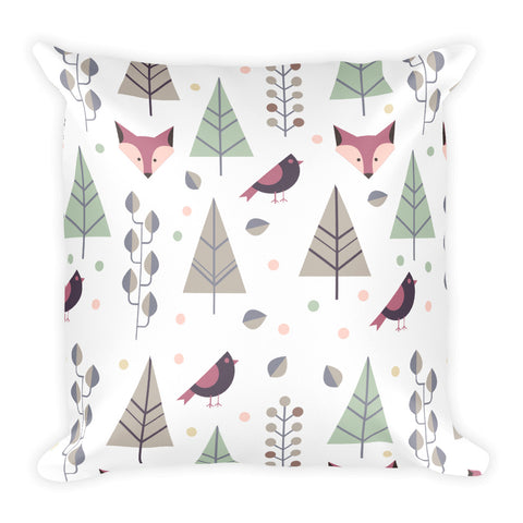 The Stockshirt Winter Fox Square Pillow