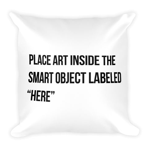 The Stockshirt Place Art Here Square Pillow