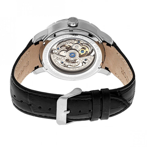 7f321a05c Heritor Automatic Ryder Skeleton Leather-Band Watch - BlackWhite HERHR4601