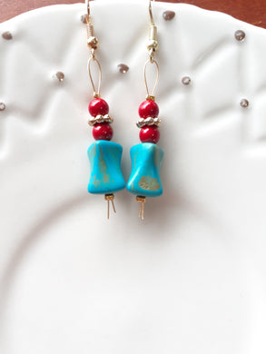 Red + Turquoise