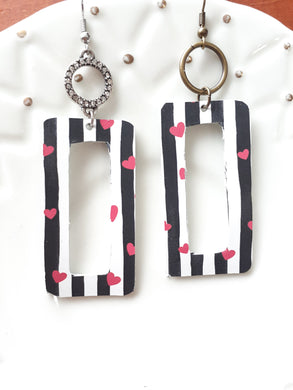 Heart + Stripe Rectangle