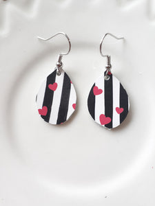 Heart + Stripe Drop Mini