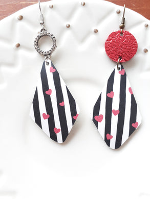 Heart Stripe Diamond Drops