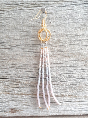 Mauve Gray Long Tassel