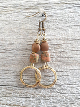 Earthy Hammered Hoops