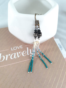 Teal Bling Tassels