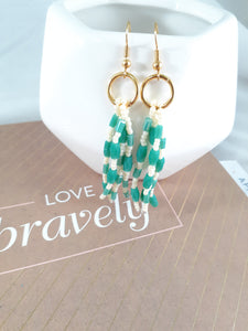 Mint Beaded Tassel