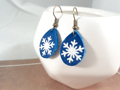 Blue + Snowflake Mini
