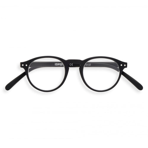 Izipizi Reading Glasses Style A in Black Front View