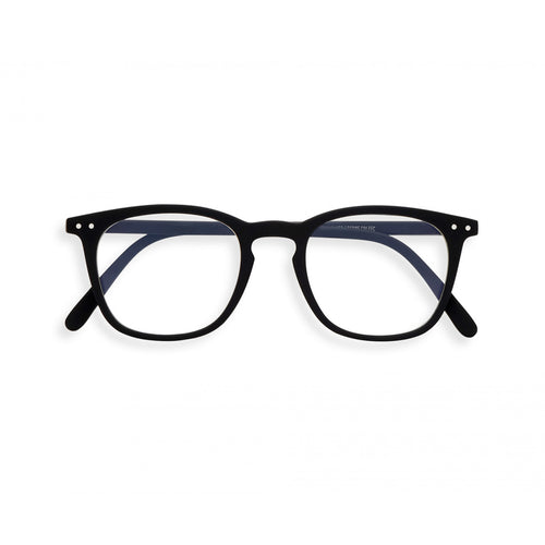 Izipizi Reading Glasses E in Black Front View