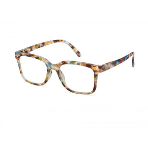 Izipizi Reading Glasses Style L in Blue Tortoise Angled