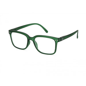 Izipizi Reading Glasses Style L in Green Crystal Angled