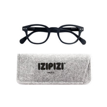 Load image into Gallery viewer, Izipizi Screen Reading Glasses C in Black with Grey Felt Carrying Case