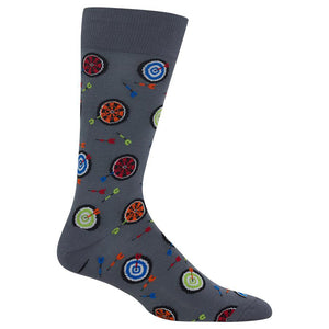 Hot Sox - Men's Dart Boards Socks in Grey