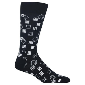 Hot Sox - Men's Dice Socks in Black