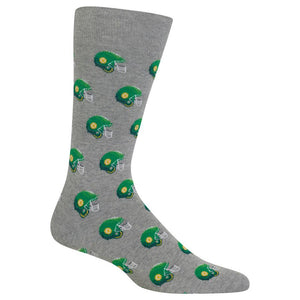 Hot Sox - Men's Football Helmet Socks in Grey
