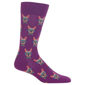 Hot Sox - Men's Smart Frenchie Socks in Purple