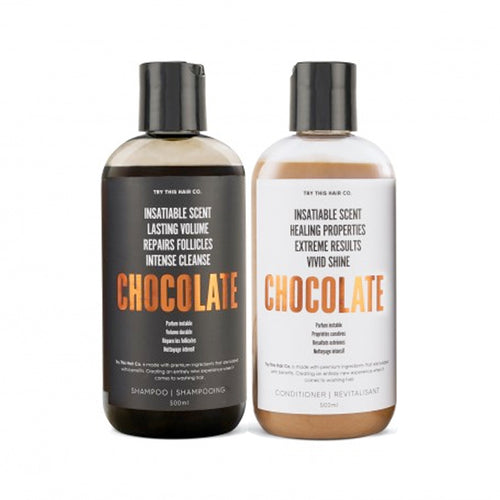 Try This Hair Co. Chocolate Shampoo and Conditioner Hair Care Duo