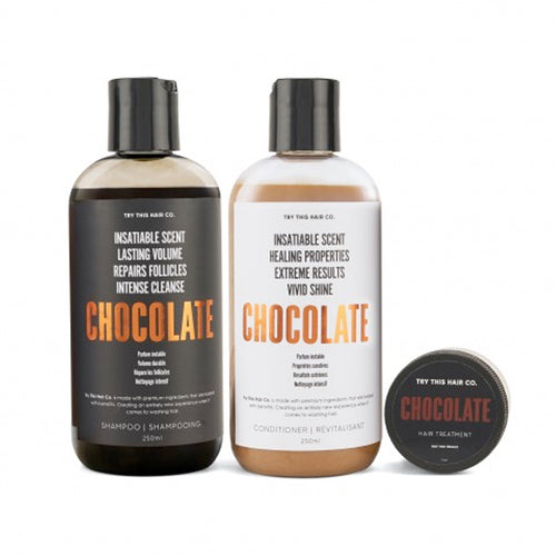 Try This Hair Co. Chocolate Trio - Shampoo, Conditioner and Hair Treatment