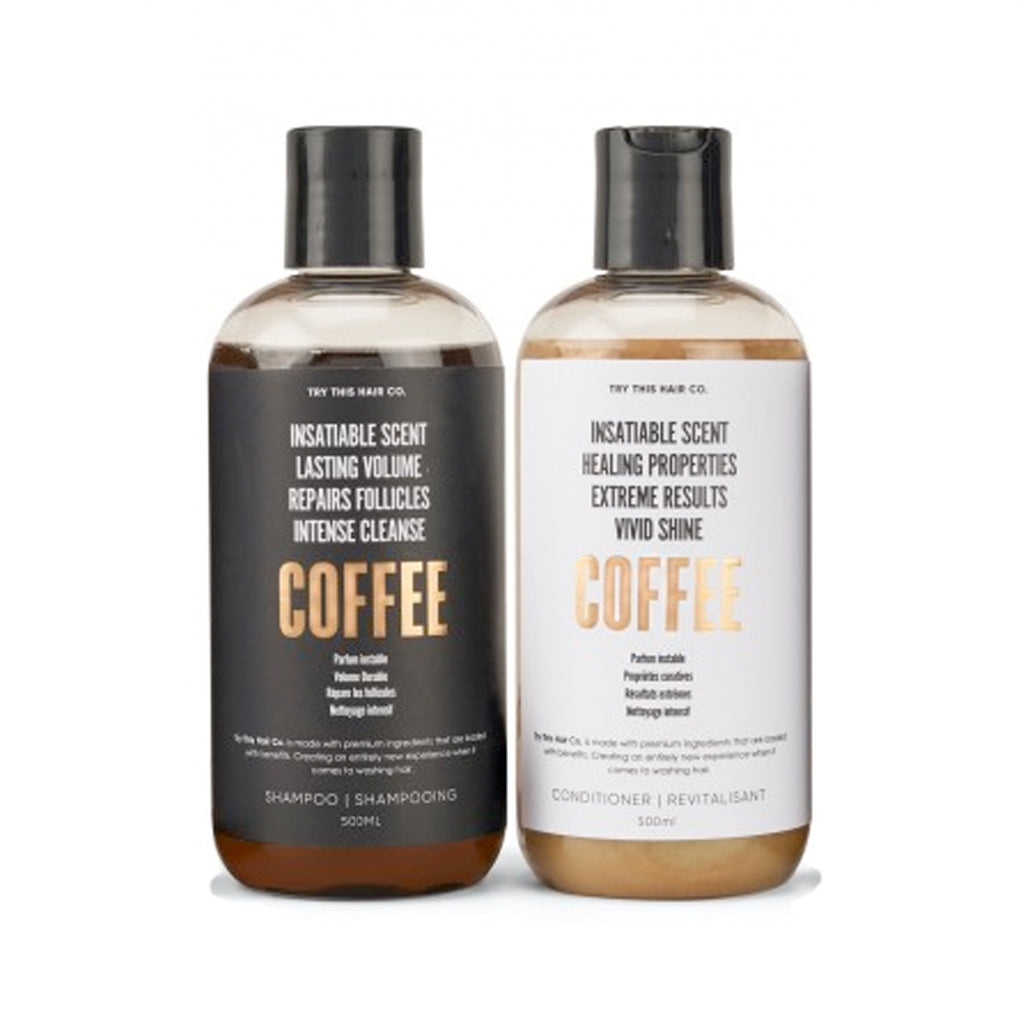 Try This Hair Co. Coffee Shampoo and Conditioner Hair Care Duo
