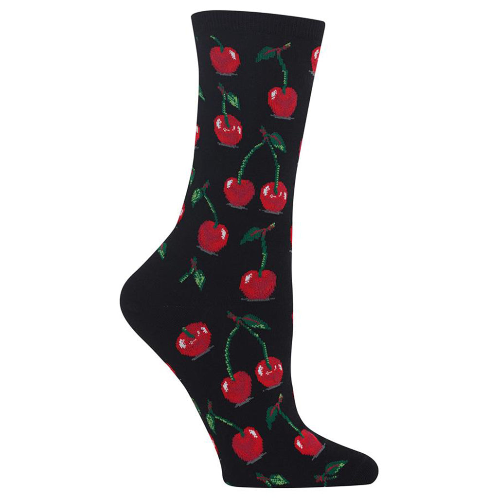 Hot Sox - Women's Cherries Socks in Black