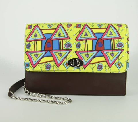 Clutch Xaverine brown/yellow