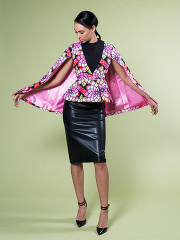 FATIMA CAPE BLAZER POWER