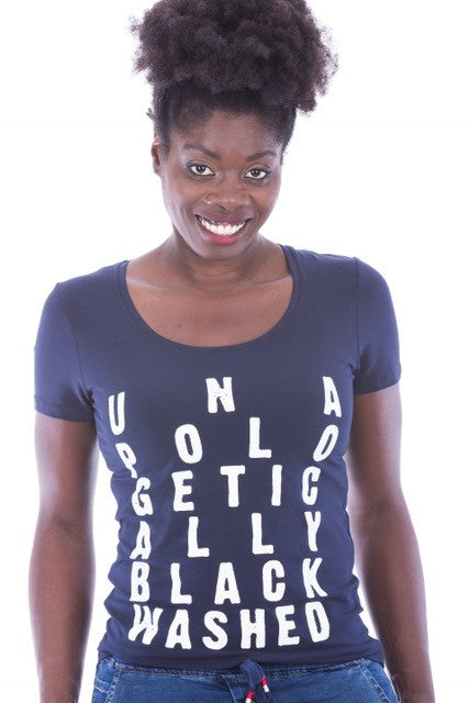 UNAPOLOGETICALLY BLACK WASHED STATEMENT SHIRT