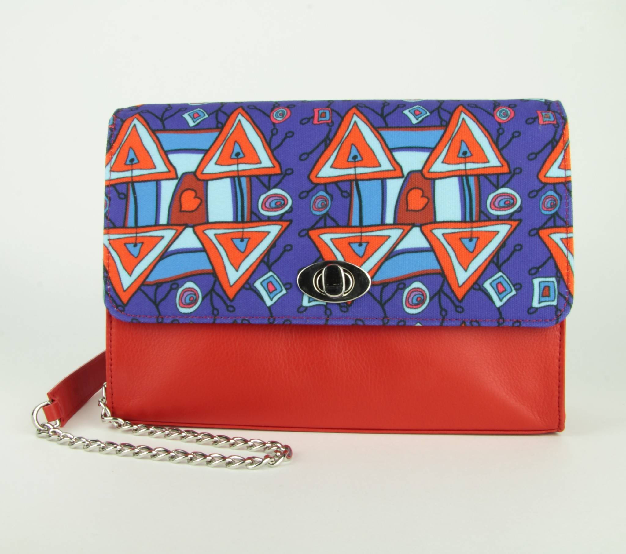 Clutch Xaverine red/blue