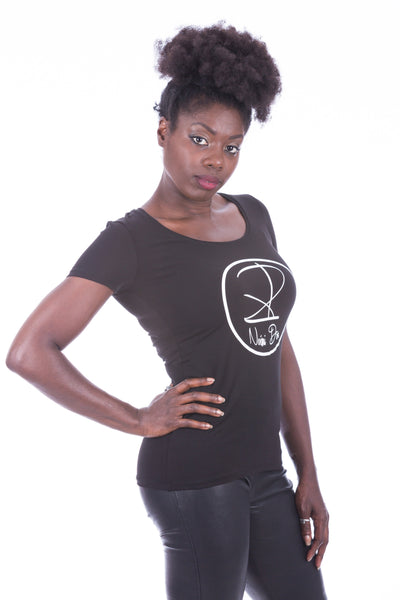 BRAND WOMEN SHIRT BLACK