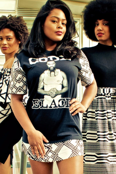 """CODE BLACK"" Tshirt Dress"