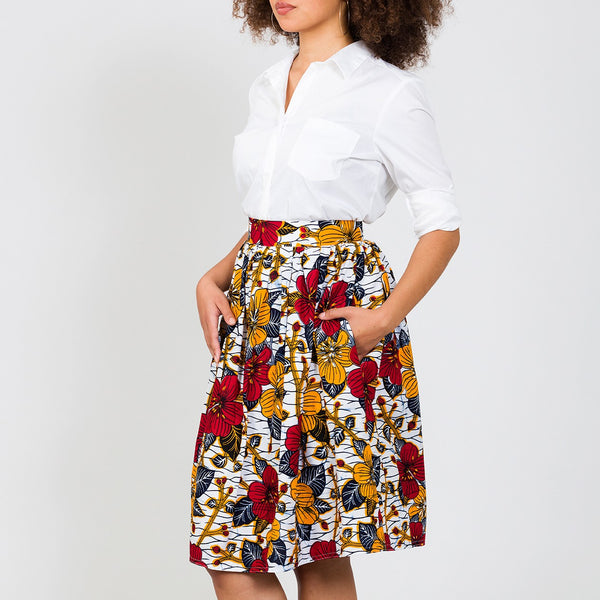 Flowery Skirt (YELLOW RED)