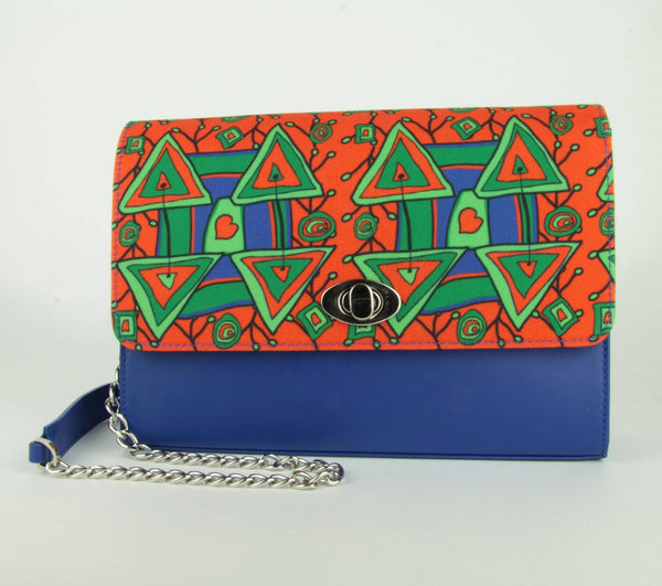 Clutch Xaverine blue/orange