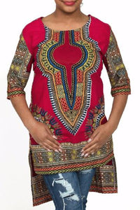 DASHIKI TOP RED
