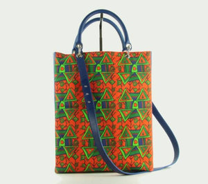 Tote bag Xaverine blue/orange