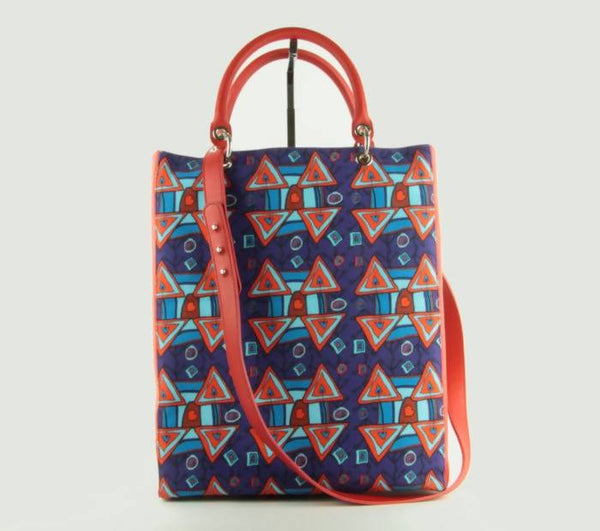 Tote bag Xaverine red/blue