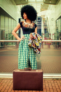 Assin Skirt Midi Dragons Green