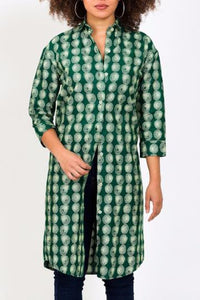 MILANI SHIRTDRESS MAXI GREEN