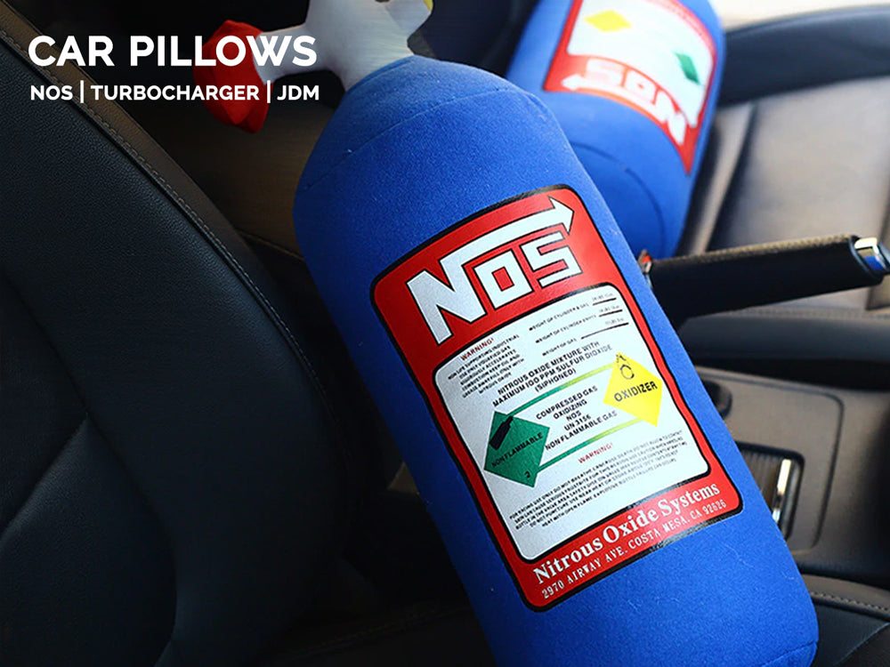 nos bottle pillows, car leather seats, car interiors, hot promo, fast shipping, premium quality, the perfect gift for every car guy