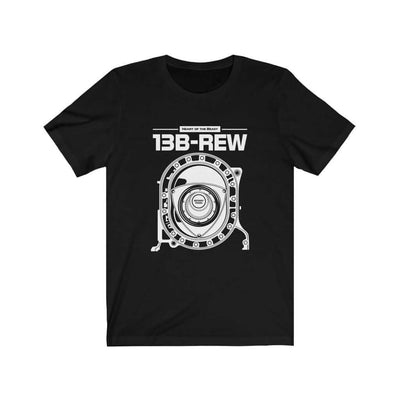 Legendary Japanese engine printed on black car t-shirt designed for car lovers, car guys, car enthusiasts, JDM lovers and petrolheads