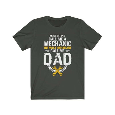 father's day gift t-shirt, mechanic dark grey tshirt with saying, funny mechanic tee, the best father's day gift