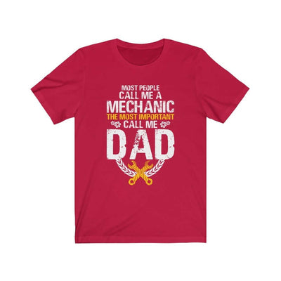 father's day gift t-shirt, mechanic red tshirt with saying, funny mechanic tee, the best father's day gift