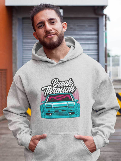Japanese sports car printed on athletic heather car hoodie, JDM hooded sweatshirt, car guy gift, car lover, car fan, car enthusiast, petrolhead, JDM lover, boyfriend gift idea