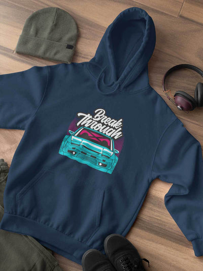 Japanese sports car printed on navy car hoodie, JDM hooded sweatshirt, car guy gift, car lover, car fan, car enthusiast, petrolhead, JDM lover, boyfriend gift idea