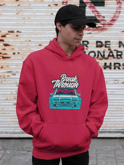 Japanese sports car printed on red car hoodie, JDM hooded sweatshirt, car guy gift, car lover, car fan, car enthusiast, petrolhead, JDM lover, boyfriend gift idea