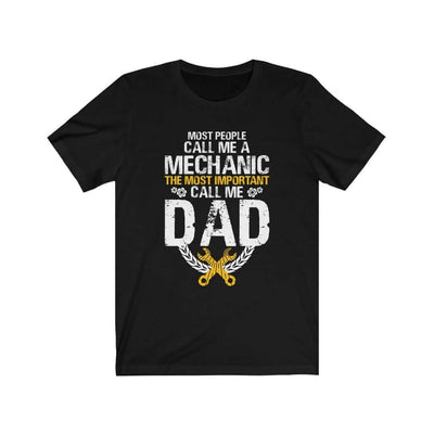 father's day gift t-shirt, mechanic black tshirt with saying, funny mechanic tee, the best father's day gift