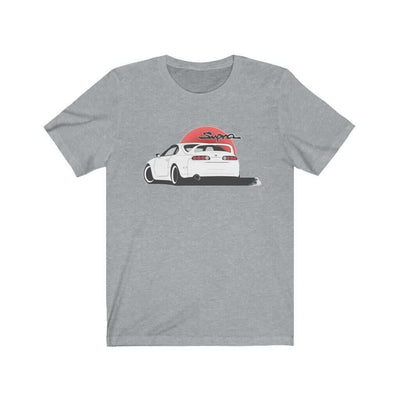 Japanese car printed on athletic heather car t-shirt, JDM tee, car guy gift, car lover, car fan, car enthusiast, petrolhead, JDM lover, boyfriend gift idea