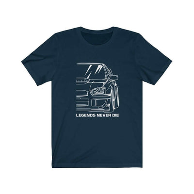 Japanese sports car printed on navy  car t-shirt designed for car lovers, car guys, car enthusiasts, JDM lovers, and petrolheads